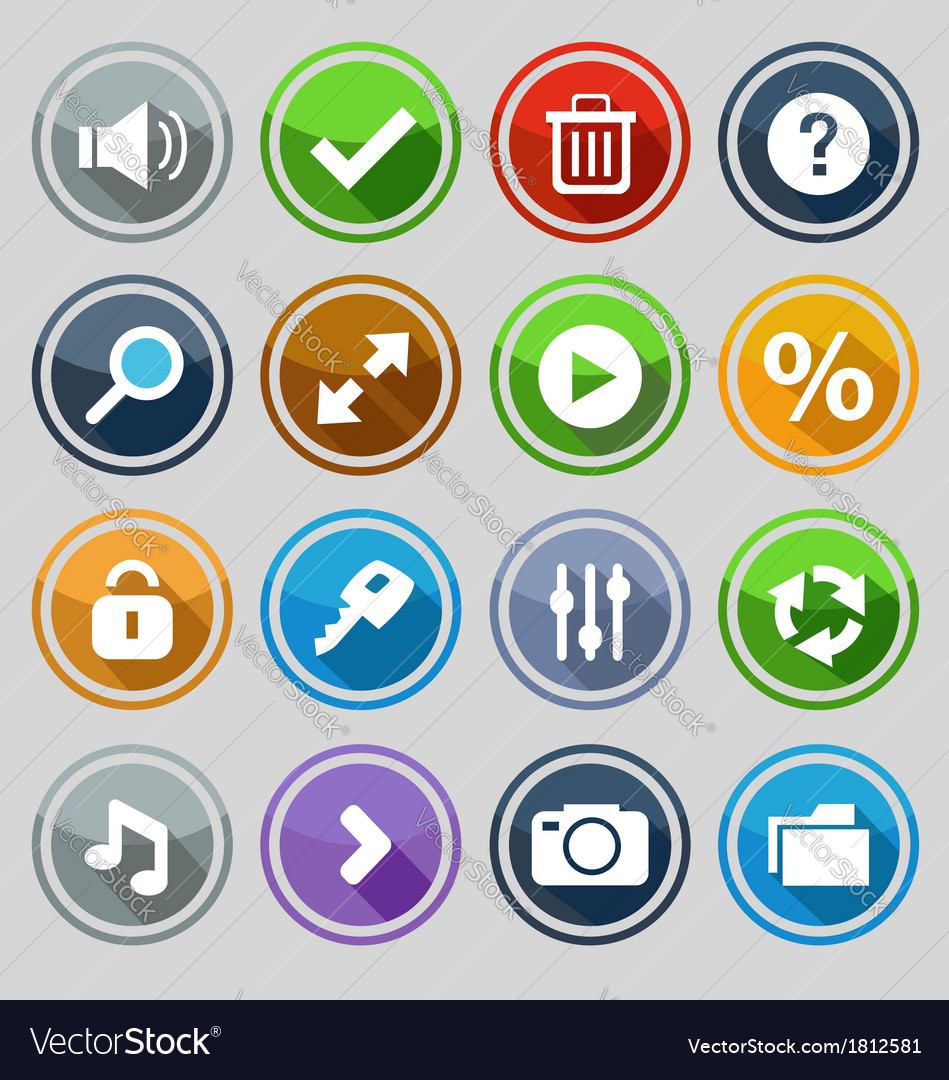Web design round buttons set 2 vector   Price: 1 Credit (USD $1)