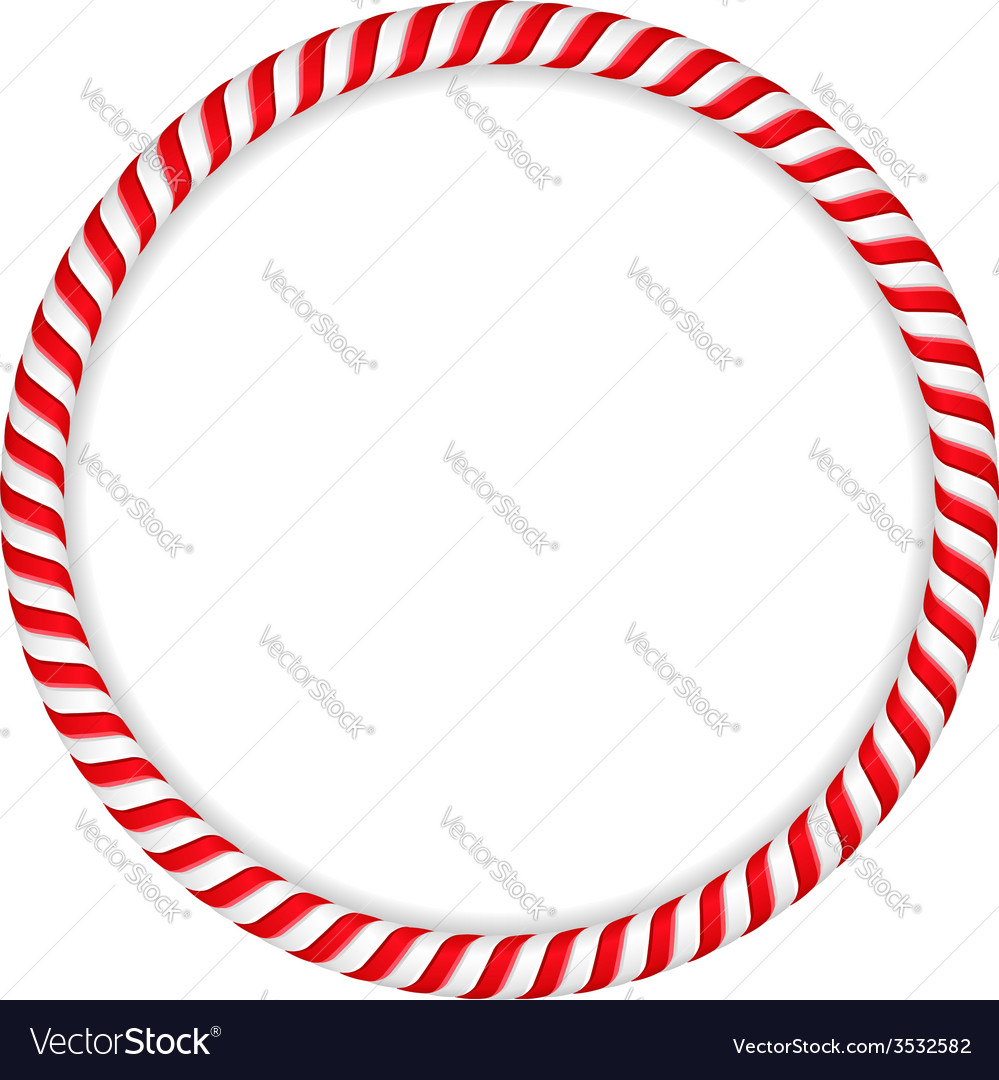 Candy cane circle vector | Price: 1 Credit (USD $1)