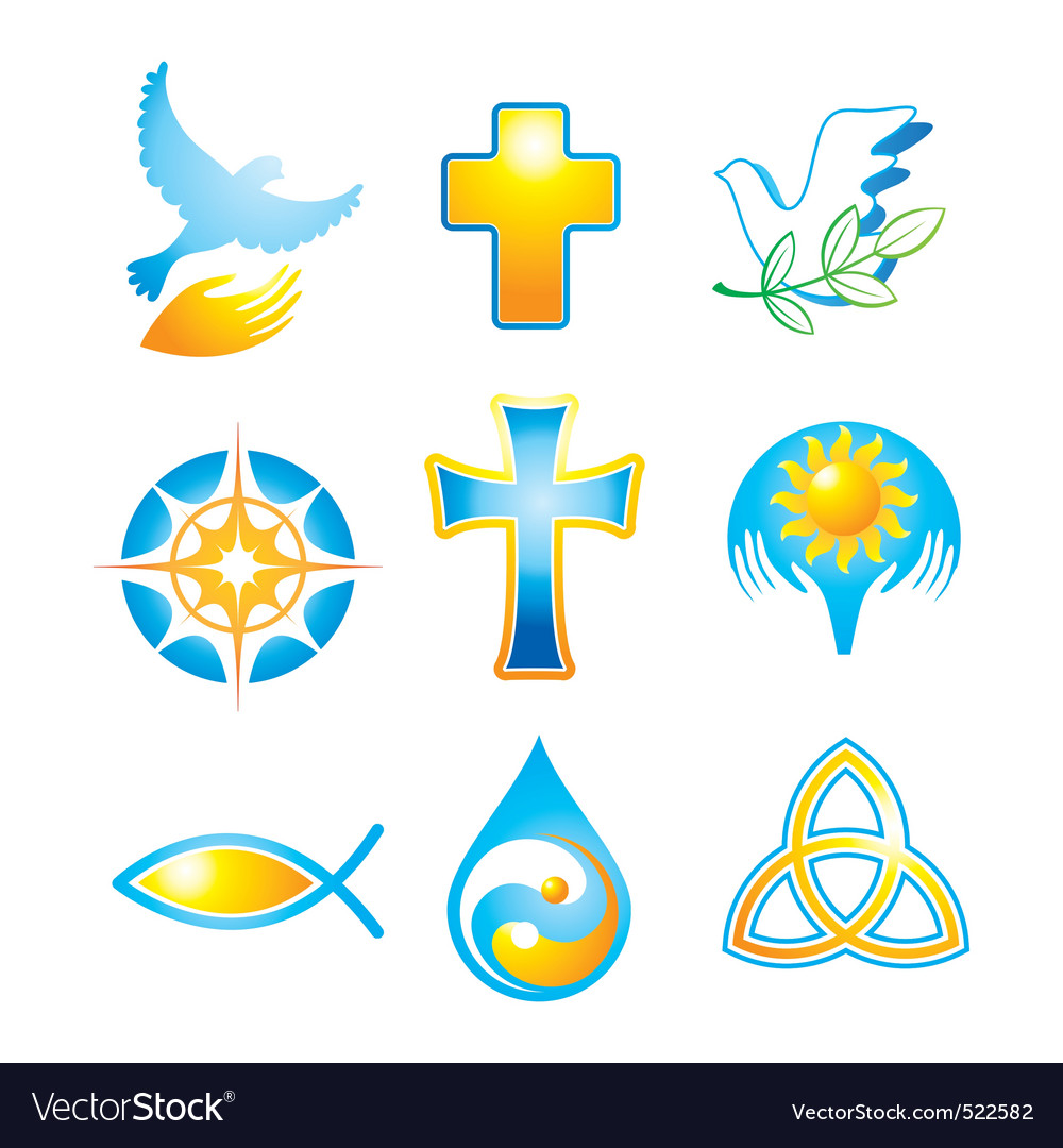 Collection religious symbols vector | Price: 1 Credit (USD $1)