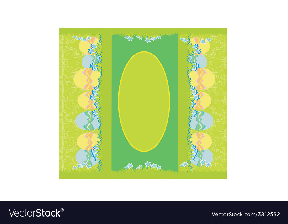 Easter festive background and egg in grass vector | Price: 1 Credit (USD $1)