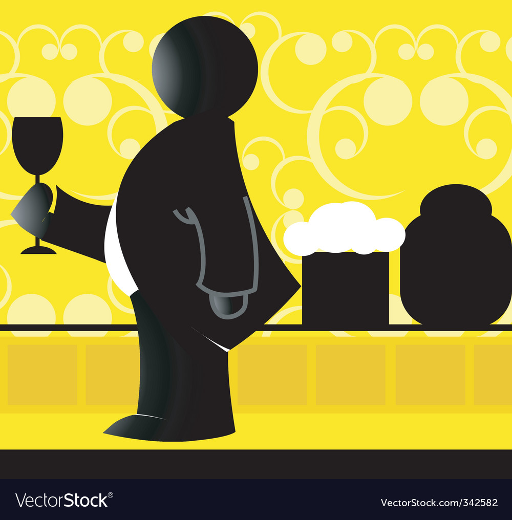 Man and wine vector | Price: 1 Credit (USD $1)