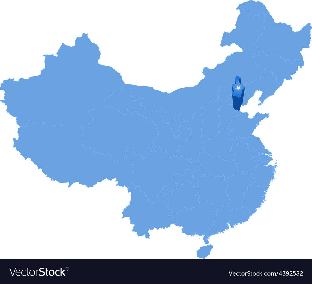 Map of peoples republic of china - tianjin vector | Price: 1 Credit (USD $1)