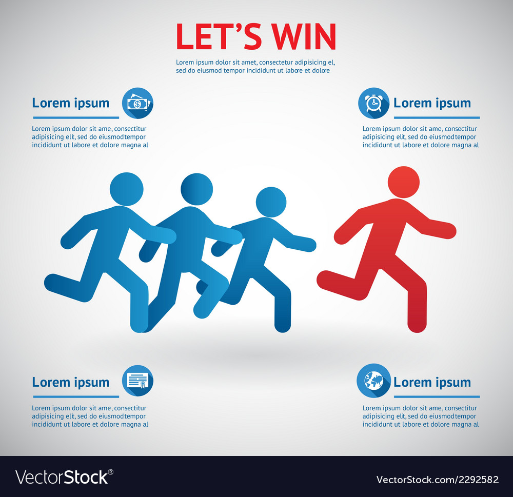People running for leader vector | Price: 1 Credit (USD $1)