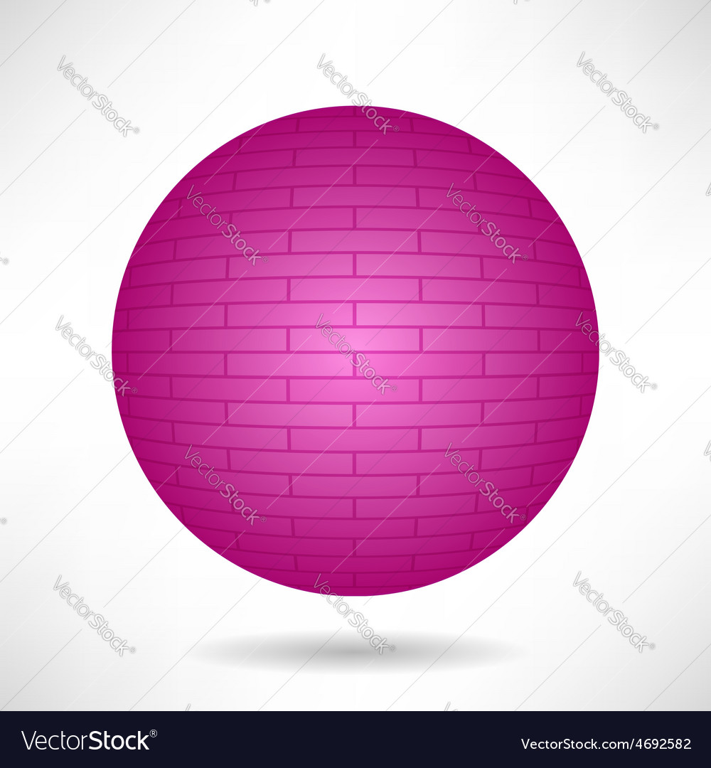 Pink sphere vector | Price: 1 Credit (USD $1)