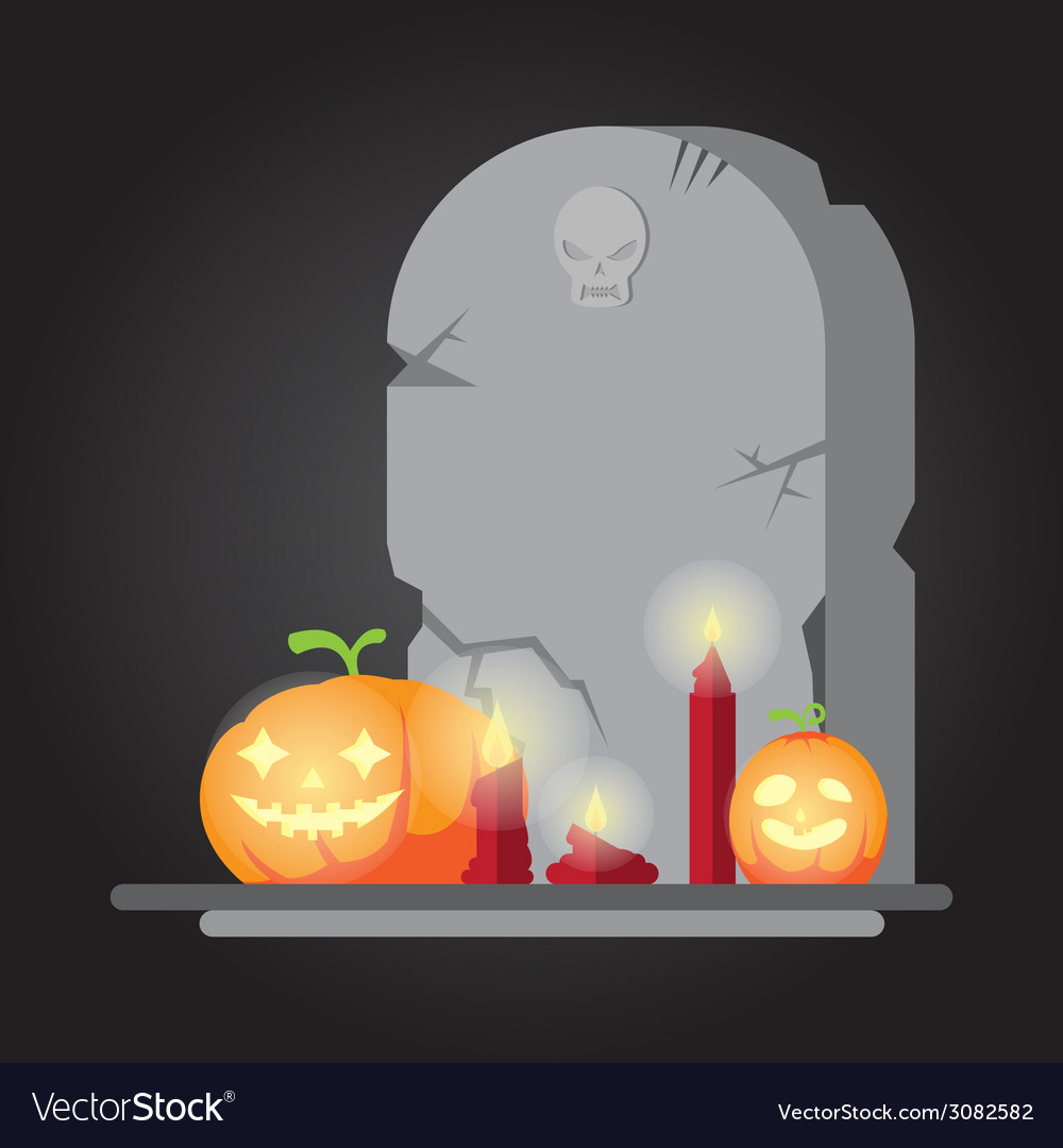 The spooky old tombstone halloween vector | Price: 1 Credit (USD $1)