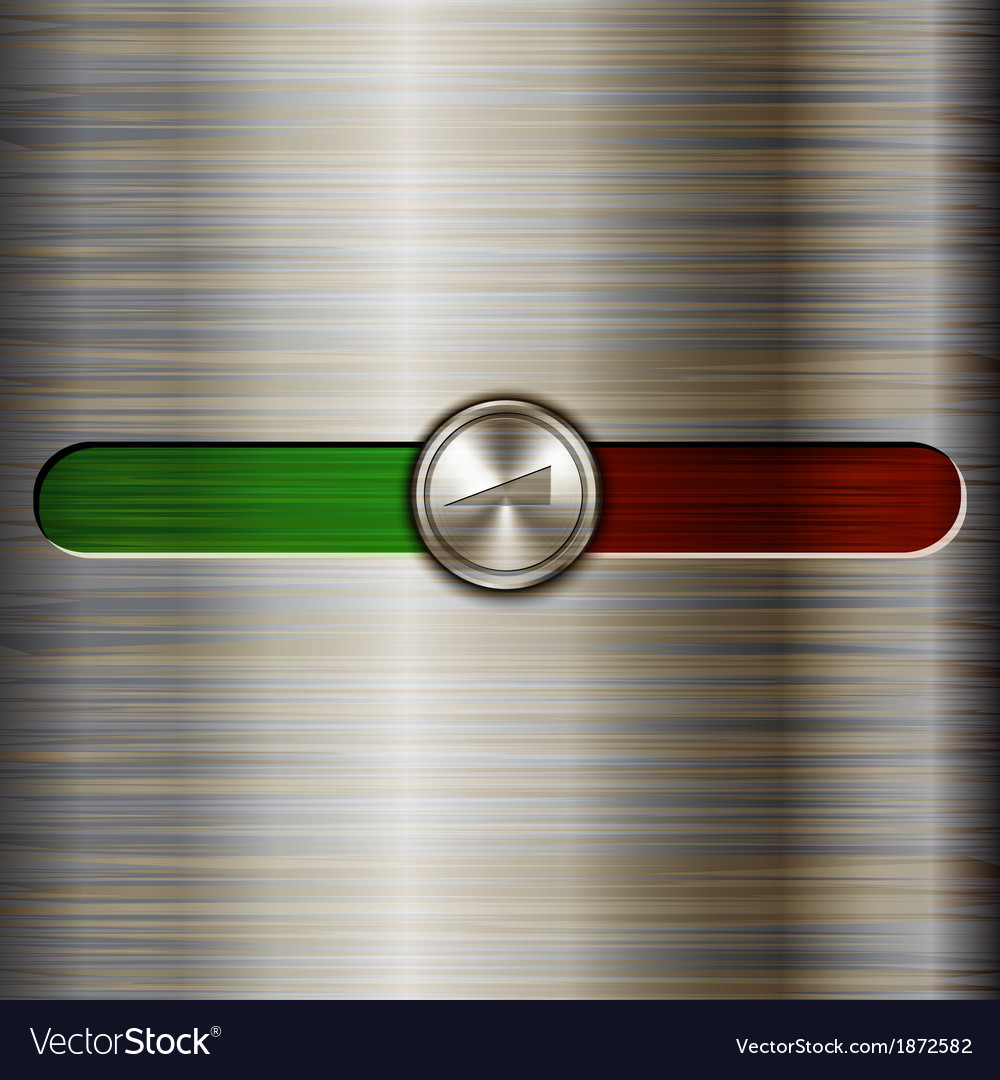 Volume control on the brushed steel background vector | Price: 1 Credit (USD $1)