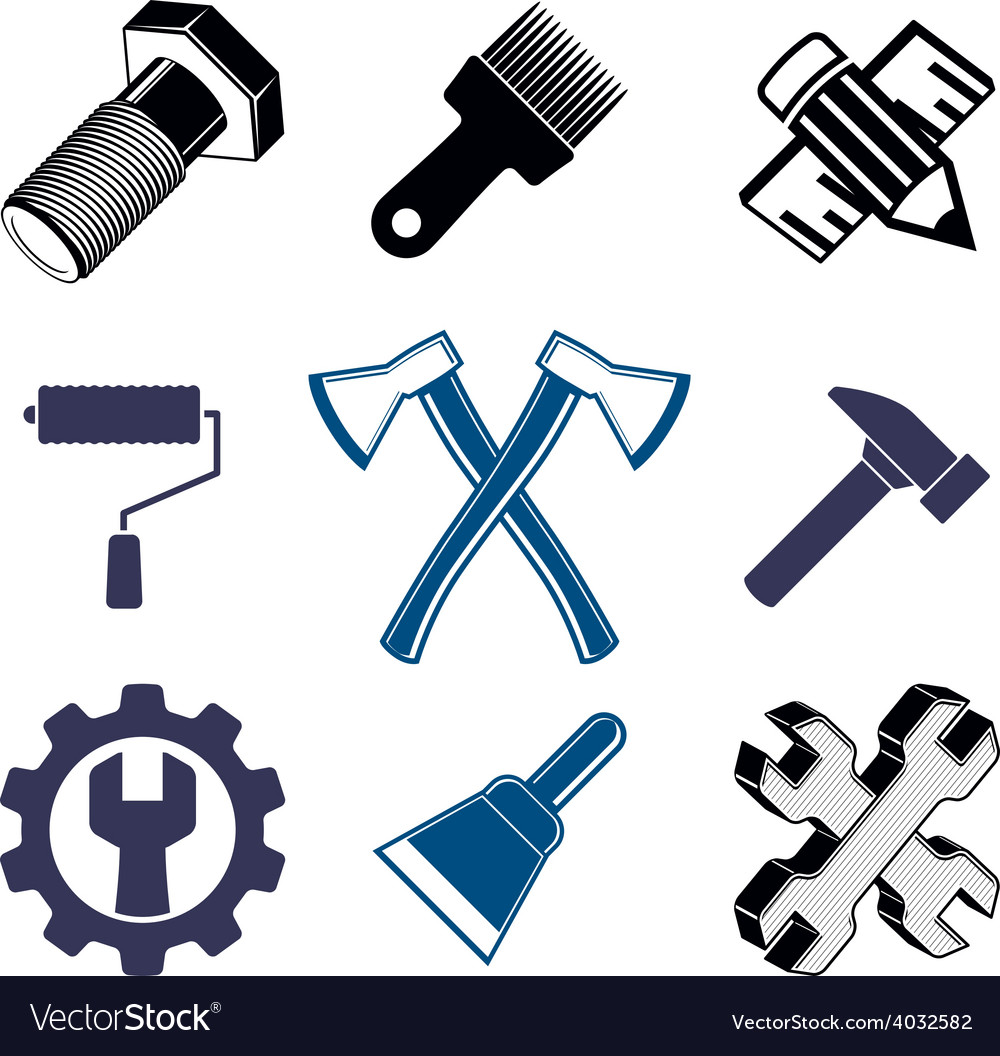 Work tools collection repair instruments for vector   Price: 1 Credit (USD $1)