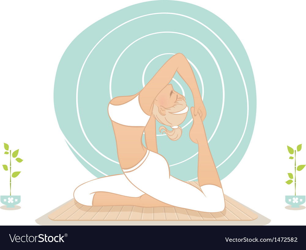 Yoga practice vector | Price: 1 Credit (USD $1)