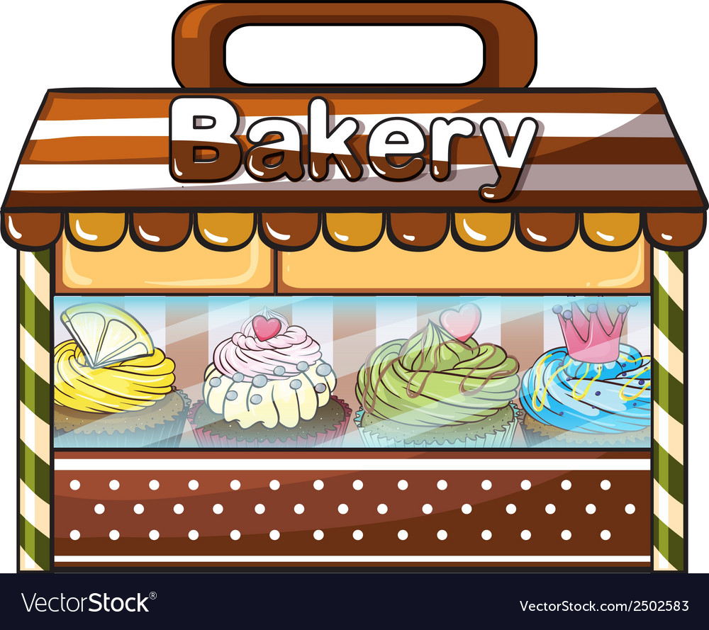 A bakery selling baked goodies and cakes vector | Price: 1 Credit (USD $1)