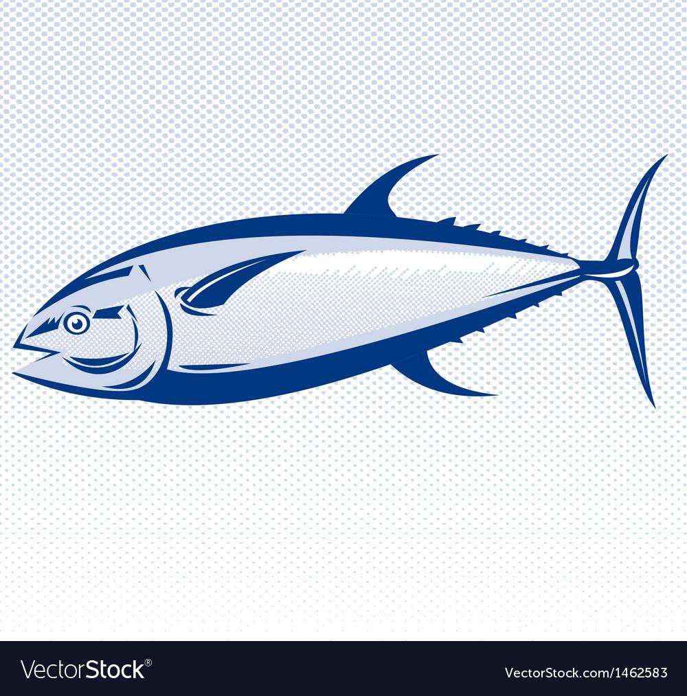 Bluefin tuna fish vector | Price: 1 Credit (USD $1)