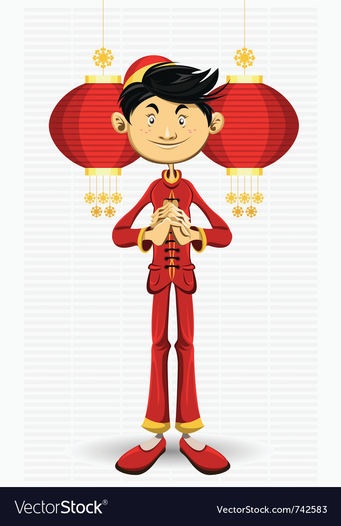 Chinese boy new year vector | Price: 3 Credit (USD $3)