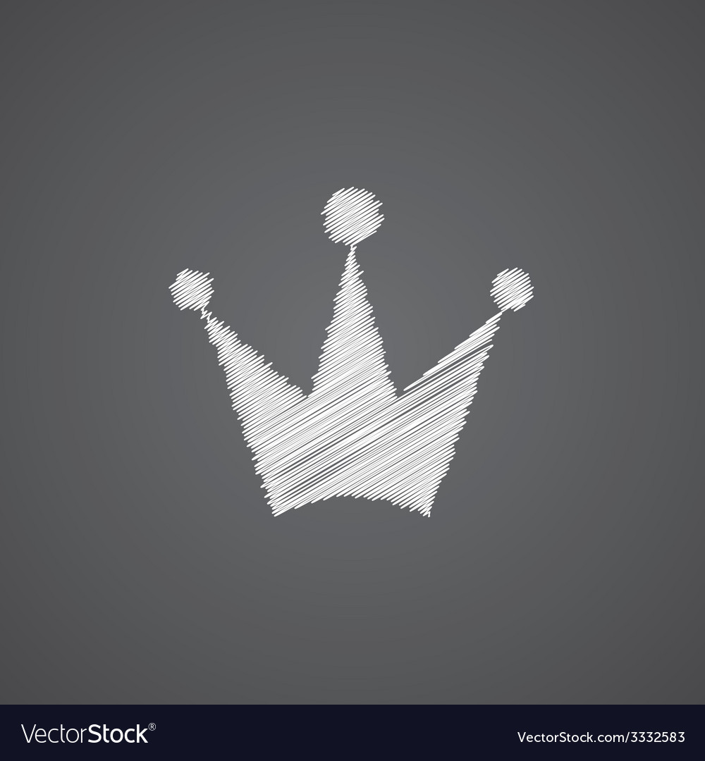 Crown sketch logo doodle icon vector | Price: 1 Credit (USD $1)
