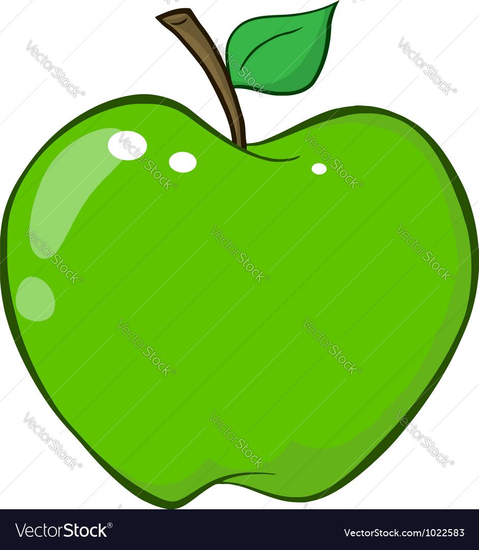 Green apple cartoon character vector | Price: 1 Credit (USD $1)