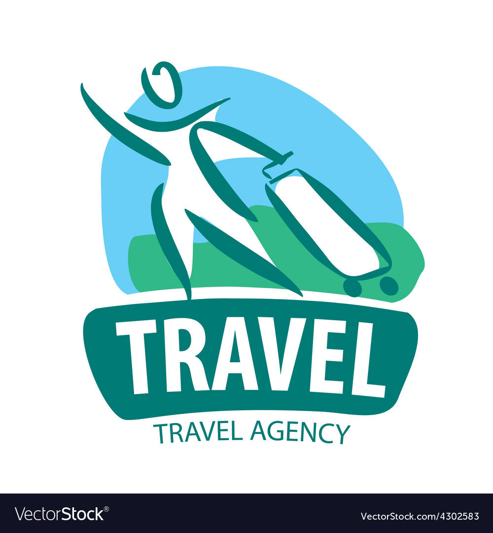 Logo tourist traveling with a suitcase vector   Price: 1 Credit (USD $1)