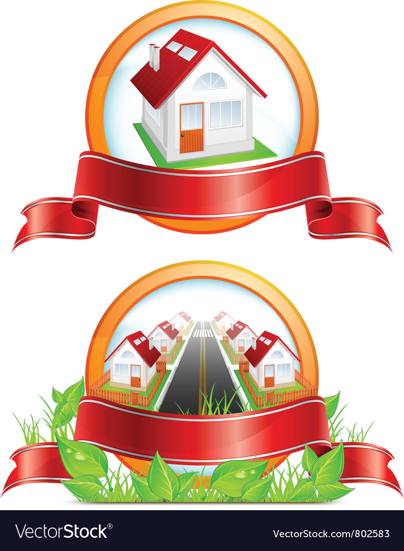 Residential houses vector | Price: 3 Credit (USD $3)