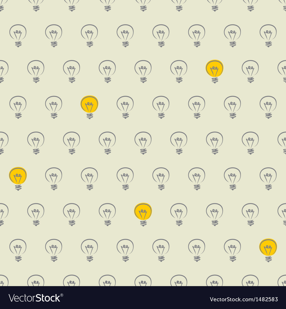Seamless light bulbs beige pattern vector | Price: 1 Credit (USD $1)