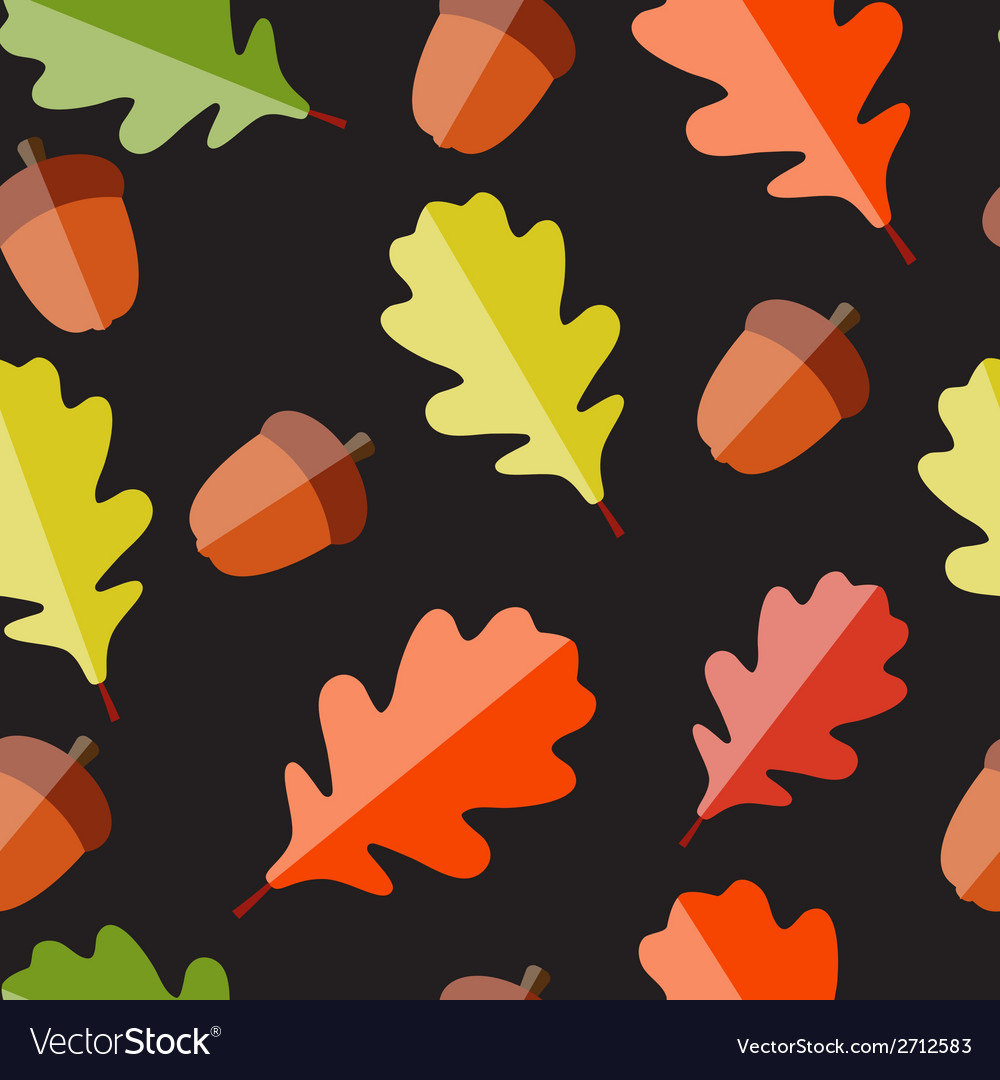 Shiny autumn natural leaves seamless pattern vector | Price: 1 Credit (USD $1)