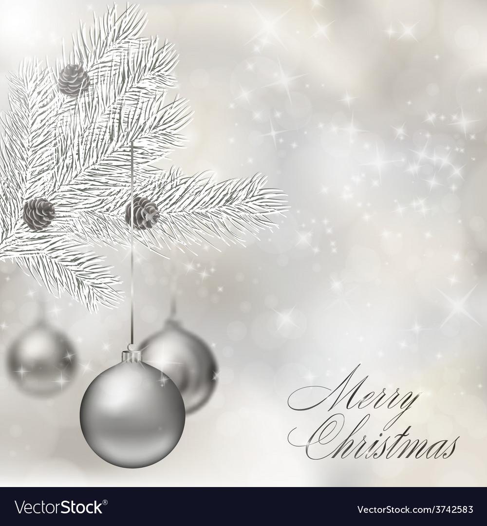 Silver christmas balls vector | Price: 1 Credit (USD $1)