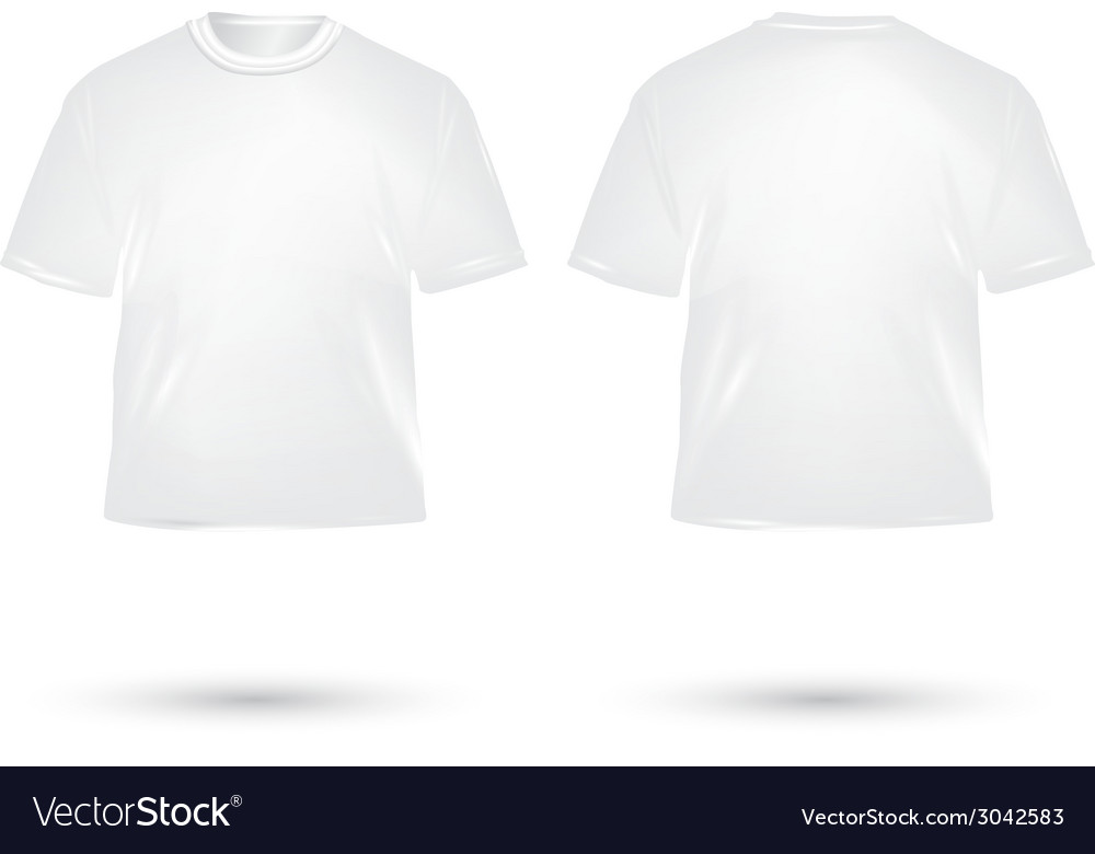 T shirt white vector | Price: 1 Credit (USD $1)