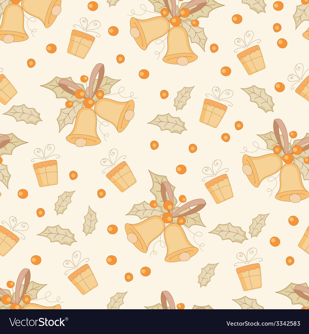 Vintage christmas seamless pattern vector | Price: 1 Credit (USD $1)