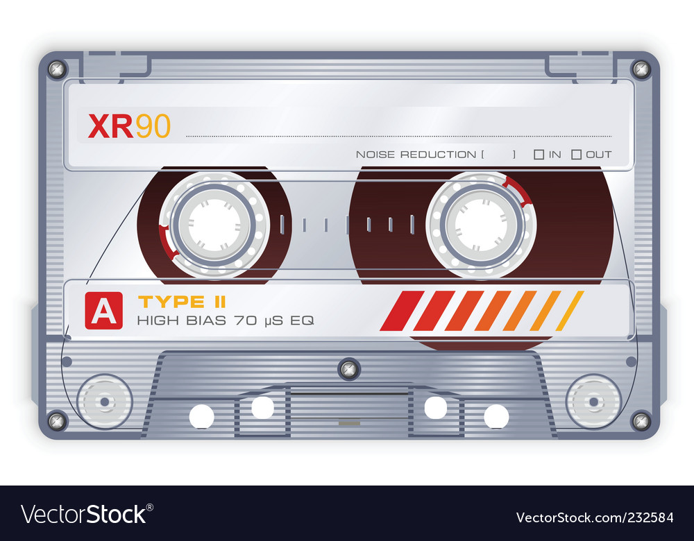Audio cassette vector | Price: 1 Credit (USD $1)