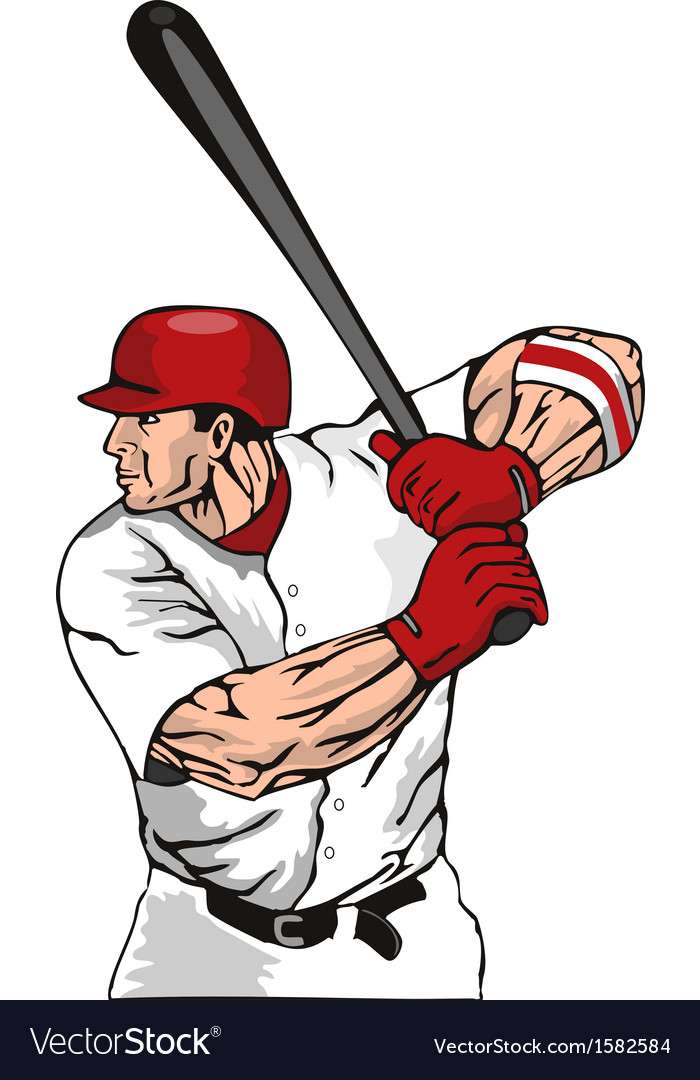 Baseball player batter vector | Price: 1 Credit (USD $1)