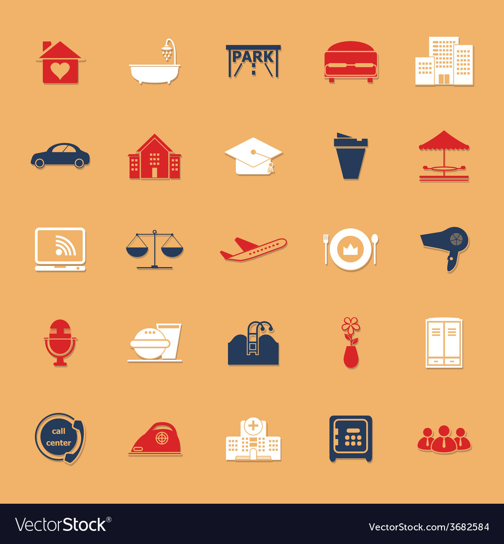 Hospitality business classic color icons with vector | Price: 1 Credit (USD $1)