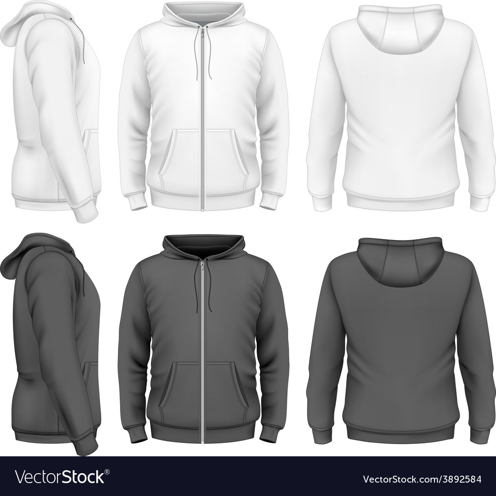Men zip hoodie vector | Price: 3 Credit (USD $3)
