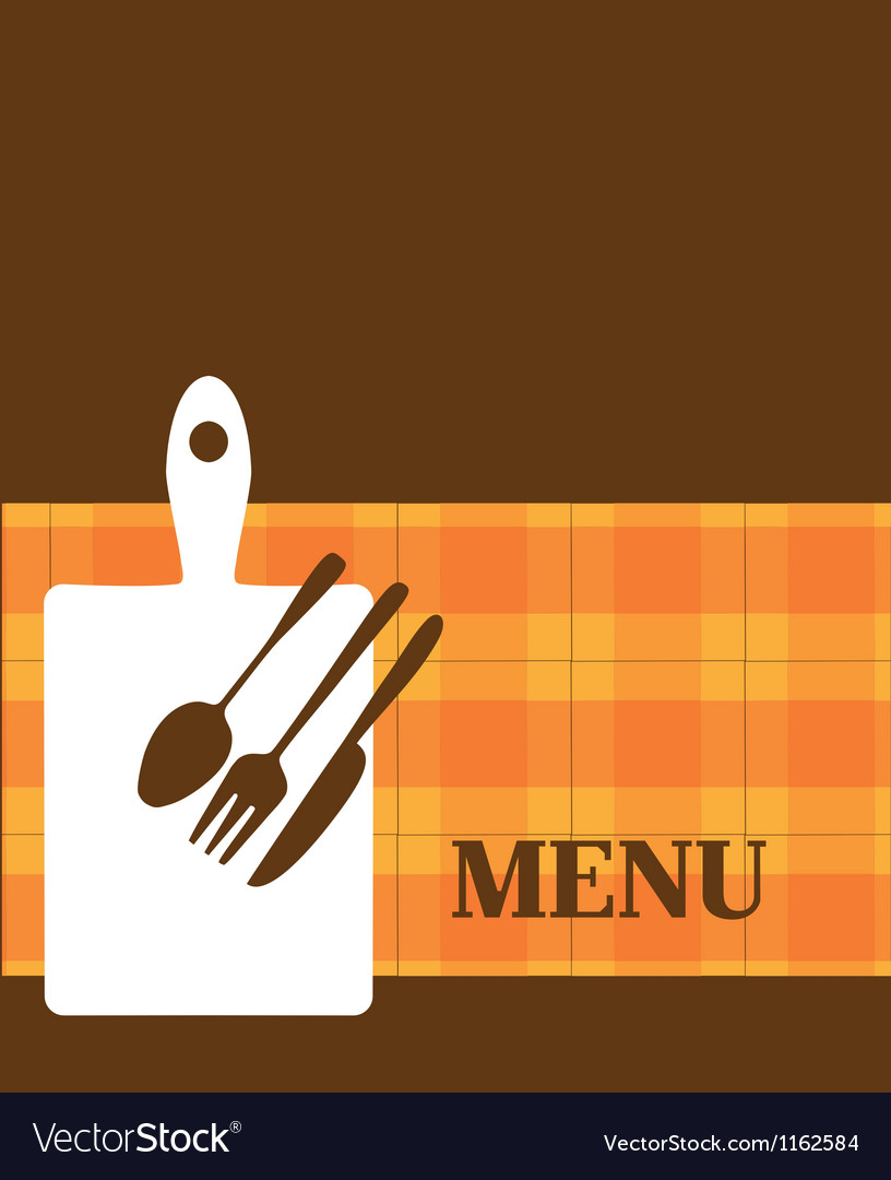 Menu template with kitchen elements vector | Price: 1 Credit (USD $1)