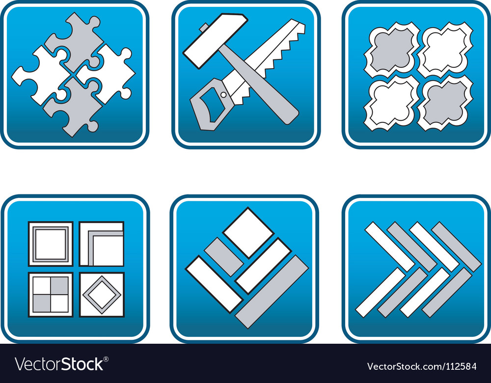 Mosaic materials tools vector | Price: 1 Credit (USD $1)