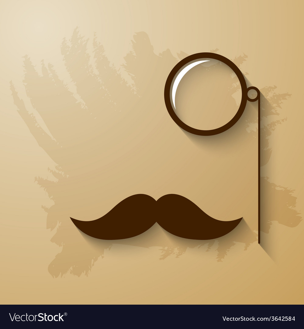 Mustach and monocle vector | Price: 1 Credit (USD $1)