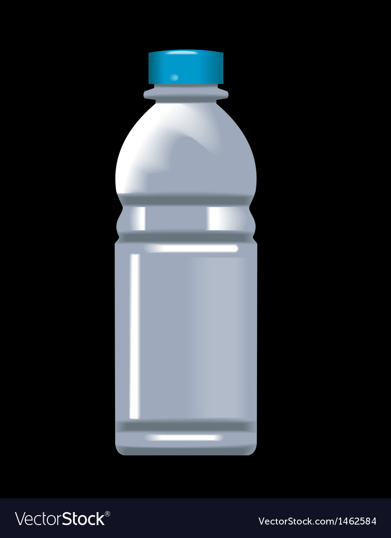 Plastic water bottle container vector | Price: 1 Credit (USD $1)
