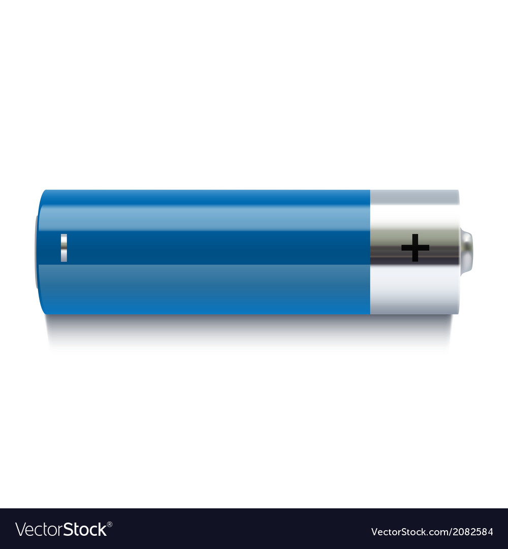 Realistic blue battery icon vector | Price: 1 Credit (USD $1)