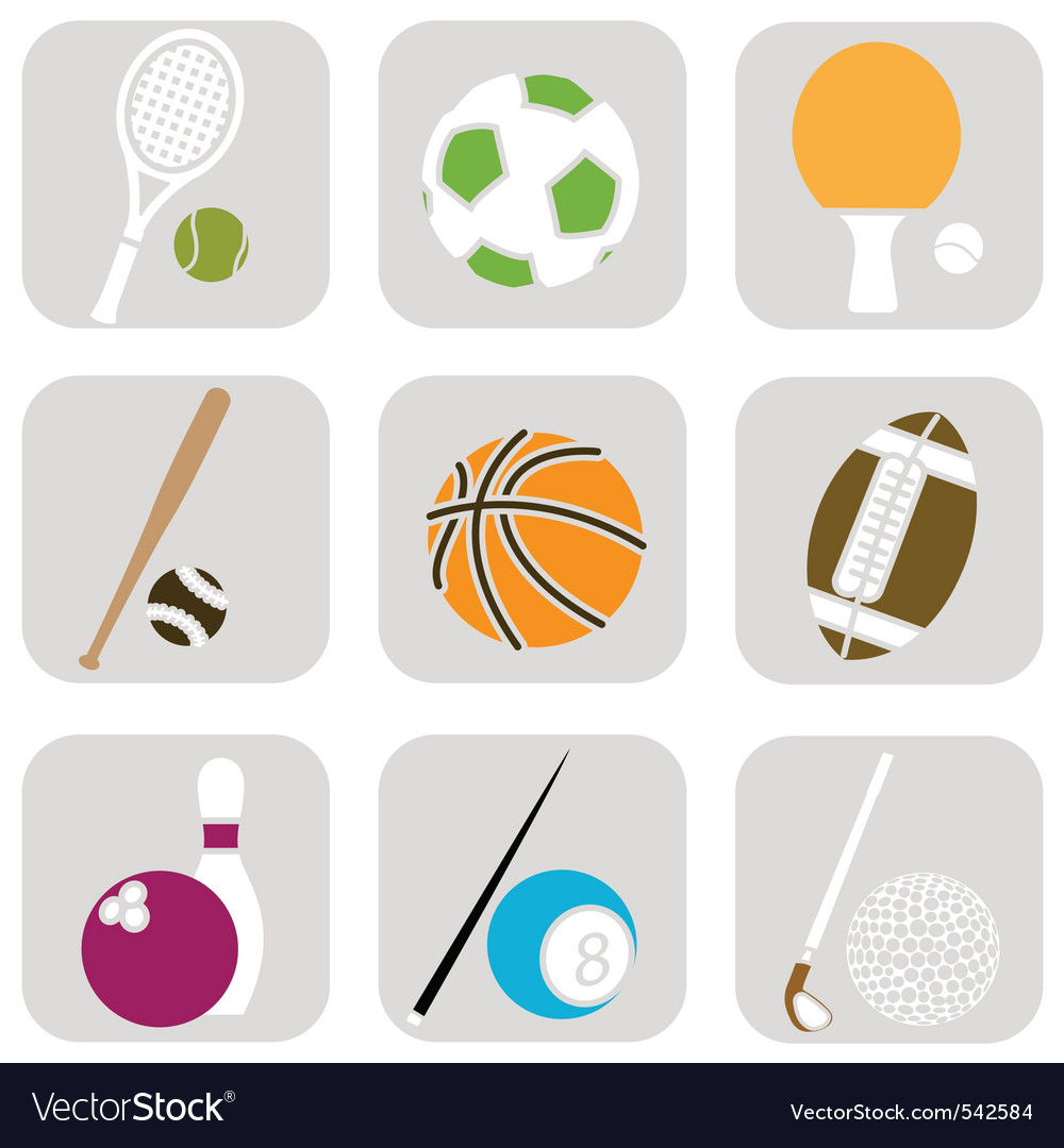Sport ball icons vector | Price: 1 Credit (USD $1)