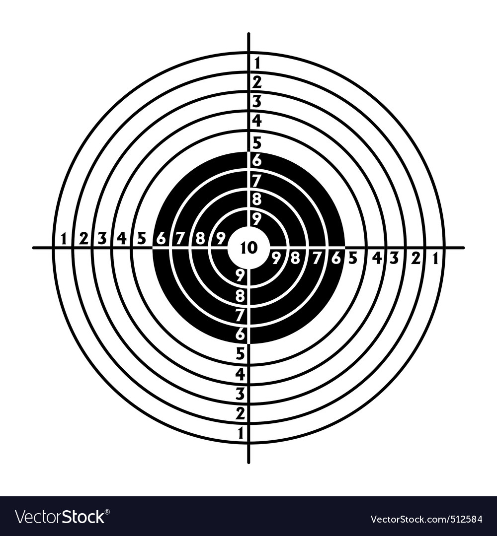 Target for shooting practice vector | Price: 1 Credit (USD $1)