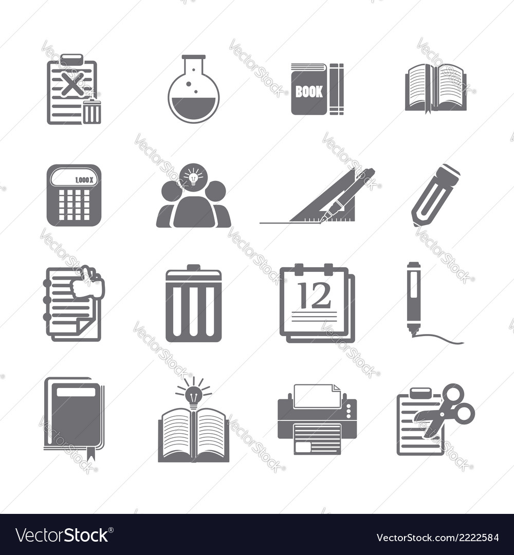 Tools learning icon set vector | Price: 1 Credit (USD $1)