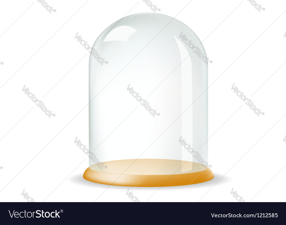 A tray with a glass cover vector | Price: 1 Credit (USD $1)