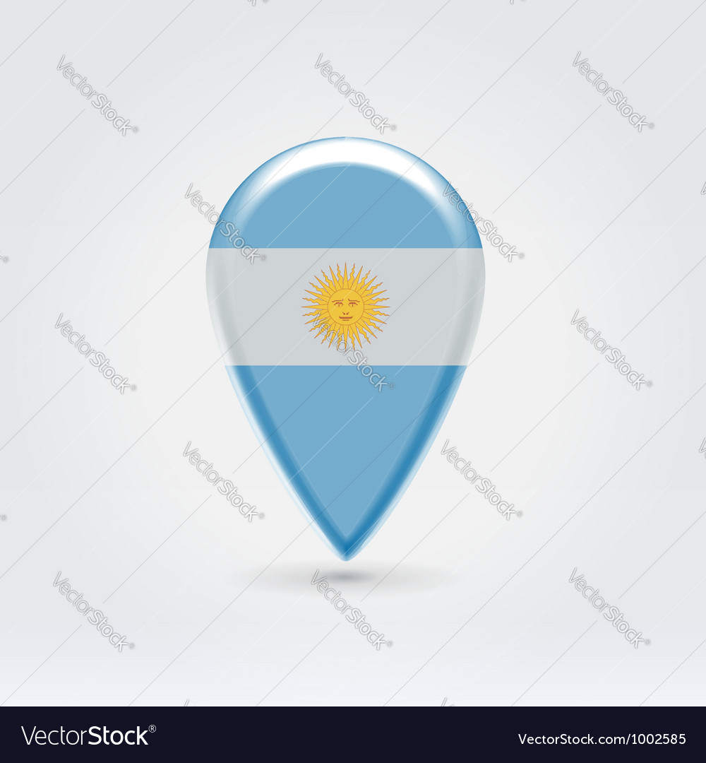 Argentinian icon point for map vector | Price:  Credit (USD $)