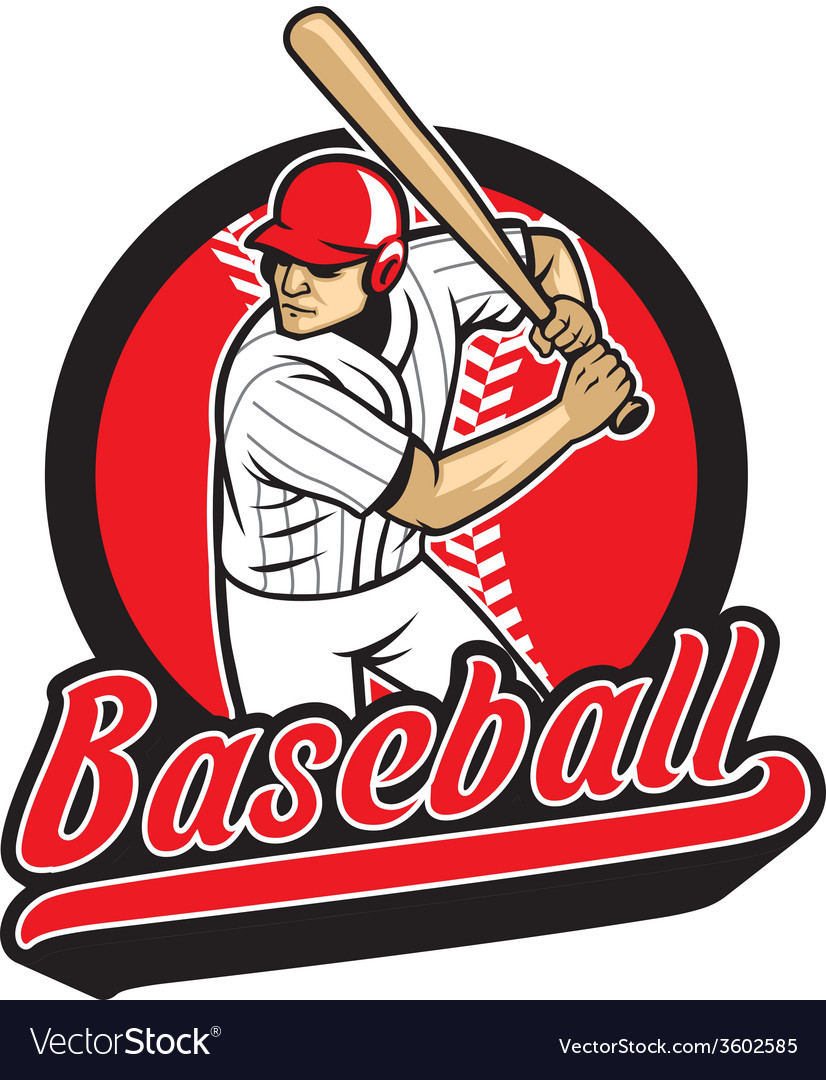 Baseball player ready to hit vector | Price: 3 Credit (USD $3)