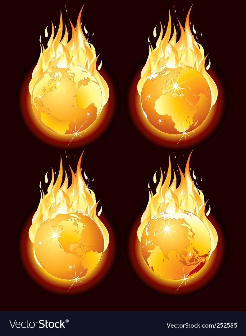 Burning earth vector | Price: 1 Credit (USD $1)