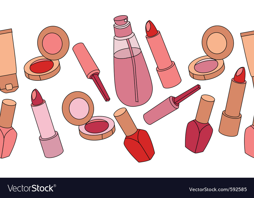 Cosmetics seamless vector | Price: 1 Credit (USD $1)