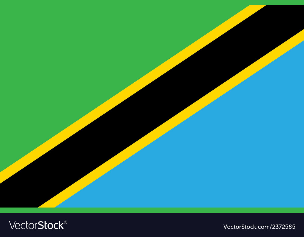 Flag of tanzania vector | Price: 1 Credit (USD $1)