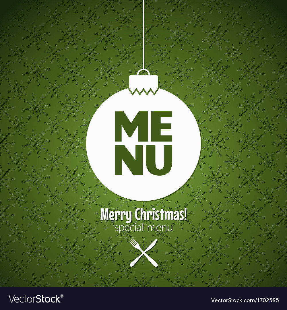 Menu special christmas dishes design vector | Price: 1 Credit (USD $1)
