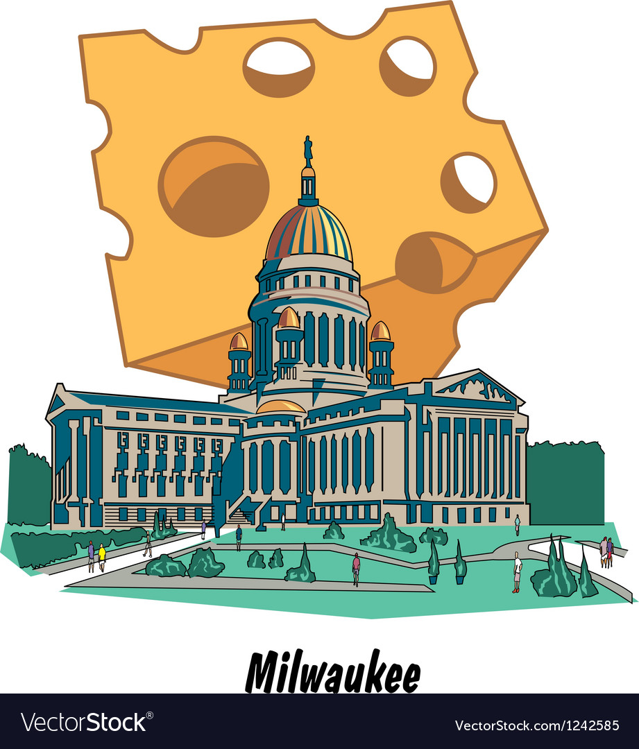 Milwaukee wisconsin poster vector | Price: 1 Credit (USD $1)
