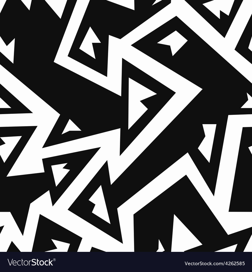 Monochrome arrows seamless pattern vector | Price: 1 Credit (USD $1)