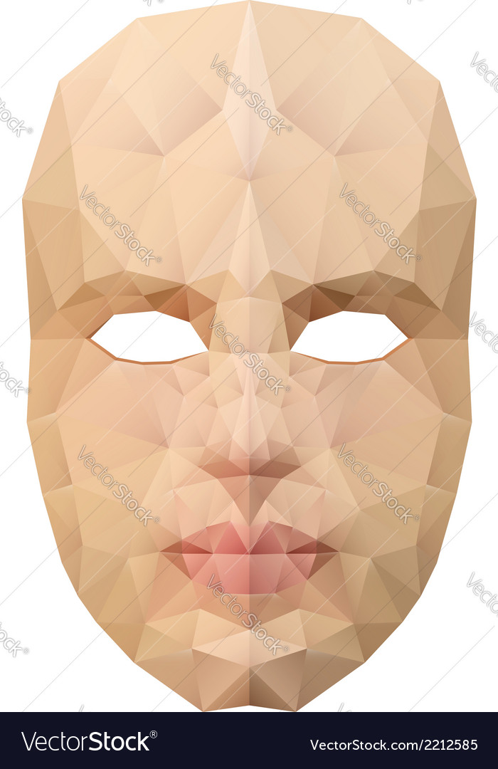 Polygonal face mask vector | Price: 1 Credit (USD $1)