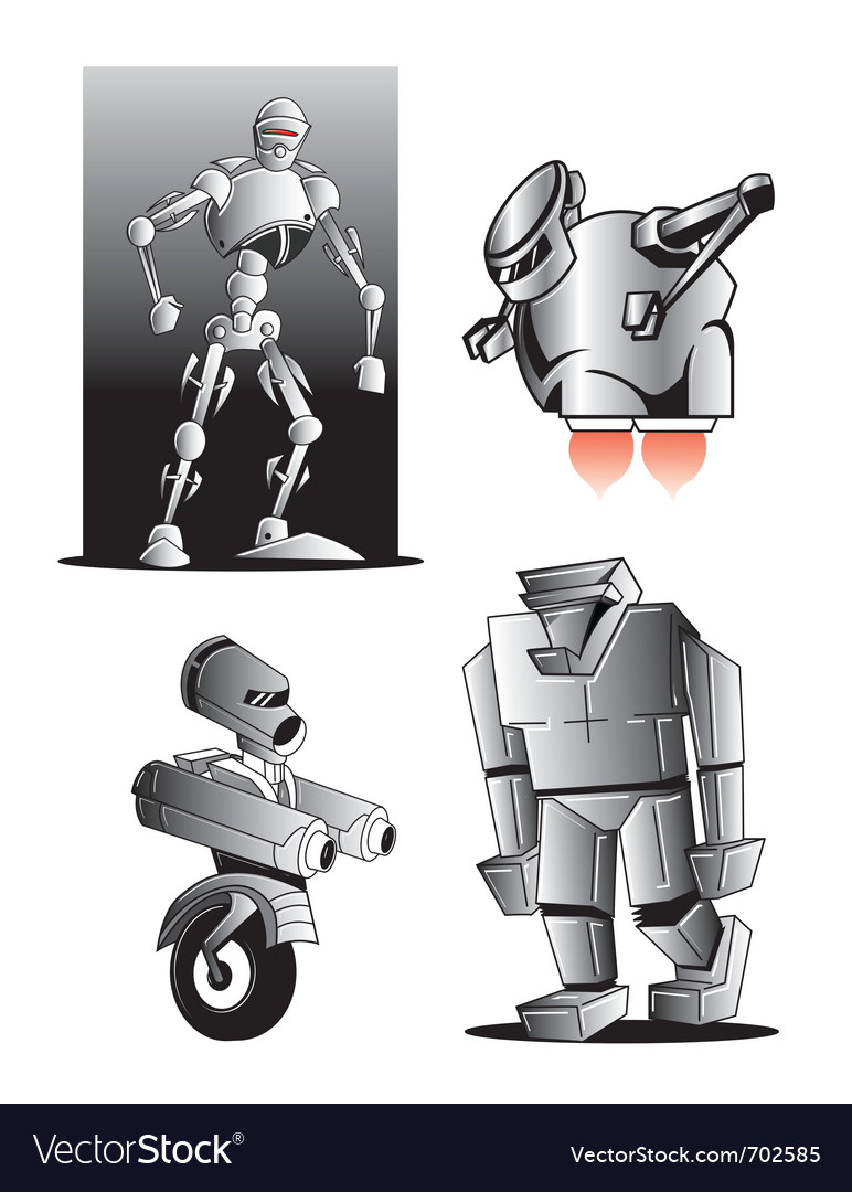 Robot figures vector | Price: 1 Credit (USD $1)