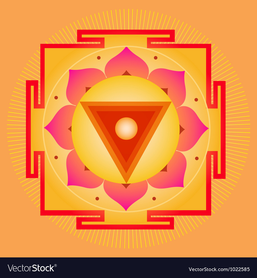 Sacred geometry orange yantra vector | Price: 1 Credit (USD $1)