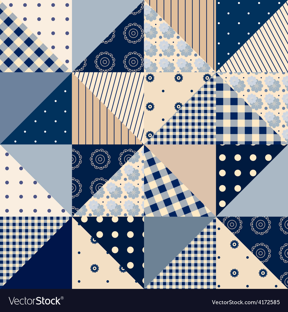 Seamless patchwork of triangles vector | Price: 1 Credit (USD $1)