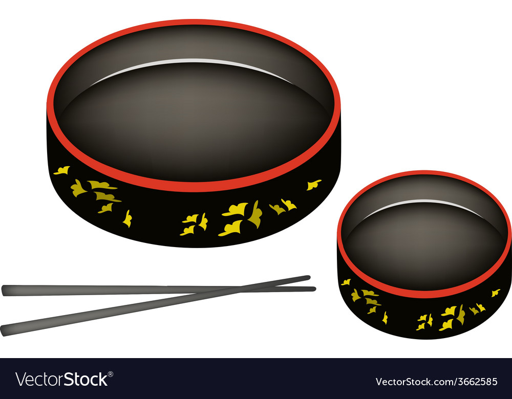 Two sushioke or round sushi serving platter vector | Price: 1 Credit (USD $1)